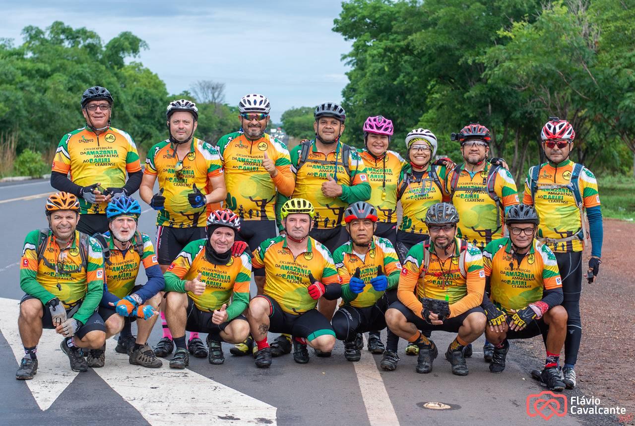 Ciclistas percorrem mais de 1.500km entre Belém, no Pará, e Várzea Alegre, no Cariri cearense