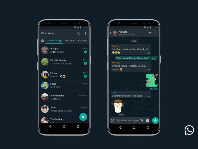 WhatsApp libera modo escuro para iPhone e celulares Android