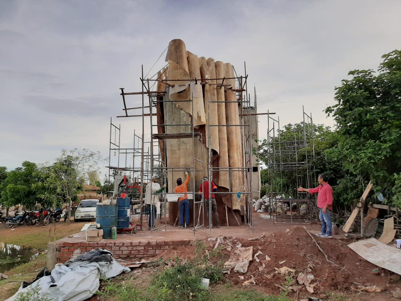 Imagem do monumento à Nossa Senhora da Penha deve chegar a Campos Sales até o final de abril