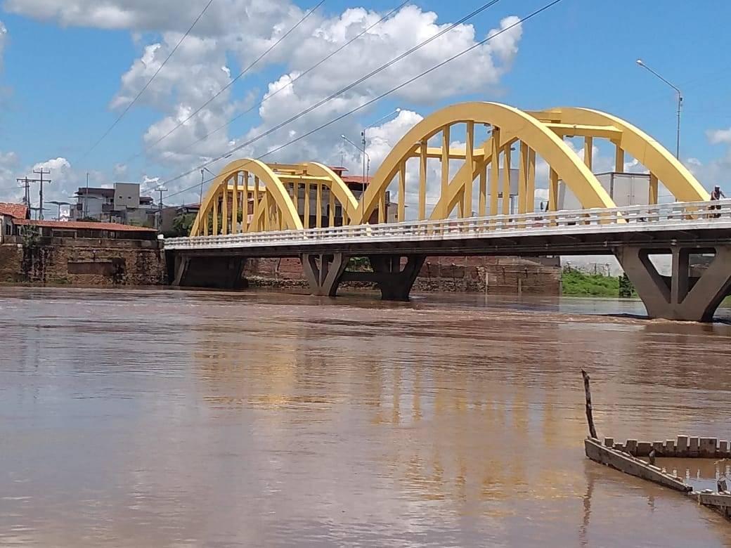 Chuvas contribuem com aumento do volume do Rio Salgado