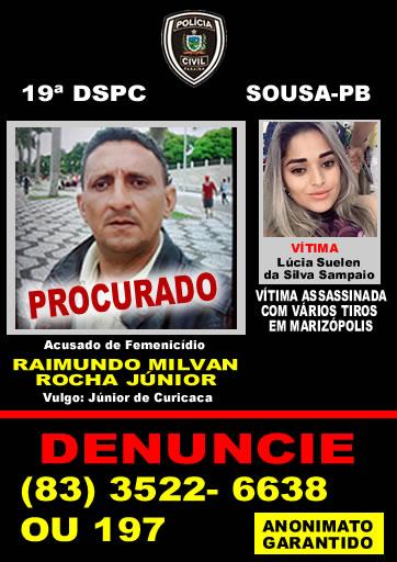 Polícia Civil procura homem suspeito de matar jovem do estado do Ceará em Pousada no município de Marizópolis