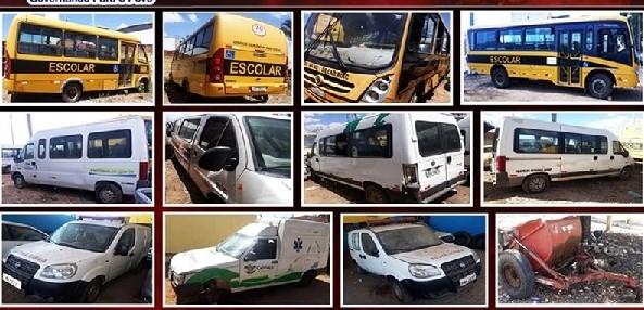 Hoje as 14horas: Prefeitura de Caririaçu vai leiloar veículos e equipamentos considerados inservíveis