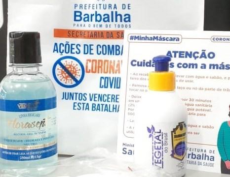 Mais de 3 mil famílias barbalhenses recebem kits de prevenção à Covid-19