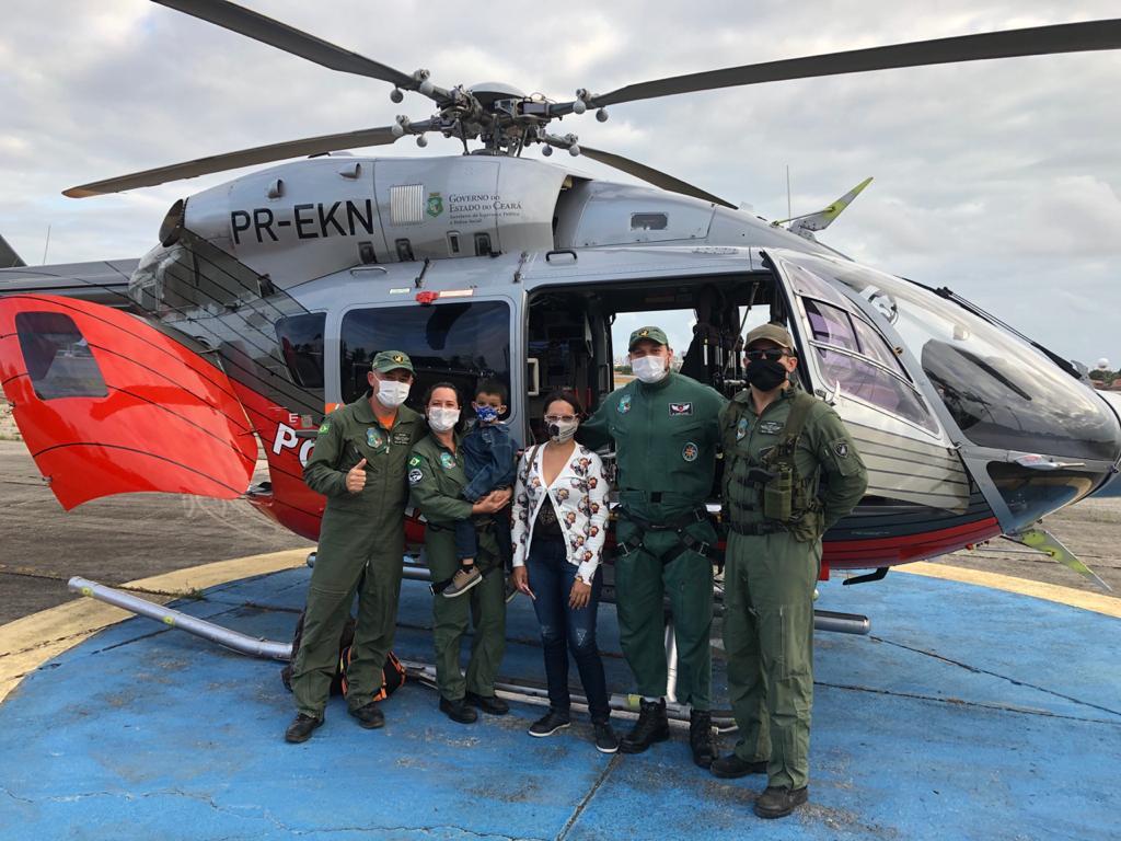 Ciopaer realiza transporte de criança do Crato até Fortaleza para transplante de órgão