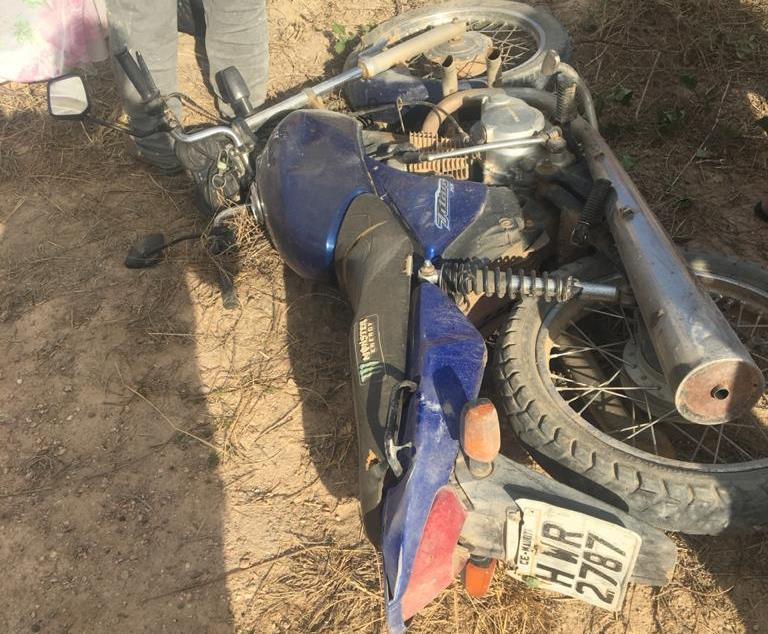 Homem morre, e outro fica ferido após queda moto na zona rural de Mauriti