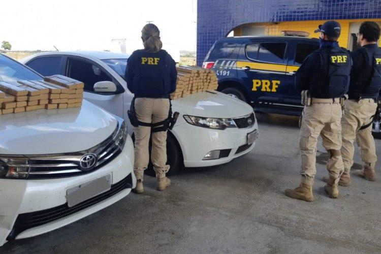 120 kg de maconha são apreendidos em carros com crianças a bordo no Ceará