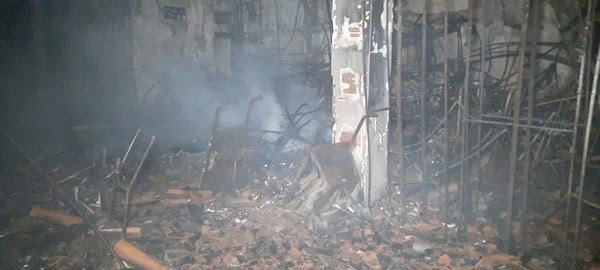 Incêndio de grandes proporções destrói acervo da Secretaria de Cultura de Iguatu
