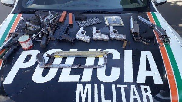 PM invade e fecha fábrica clandestina de armas de fogo em Juazeiro do Norte
