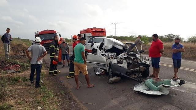 Um jovem morre e outro fica ferido em acidente na BR–020, em Tauá