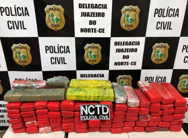 Baiano é preso pela Polícia Civil com quase 40 kg de drogas em Juazeiro do Norte