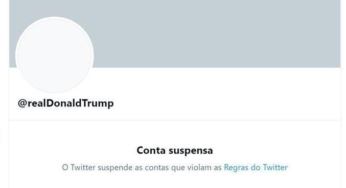 Twitter suspende perfil de Donald Trump permanentemente