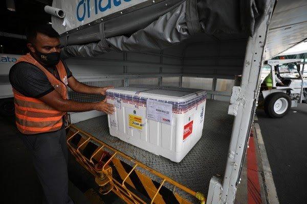 Amazonas recebe 2 mil doses de vacina contra Covid, após lote de 78 mil ser entregue por engano no Amapá
