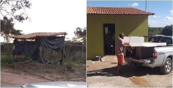 Casal que vivia em barracão ganha casa construída por voluntários no Ceará