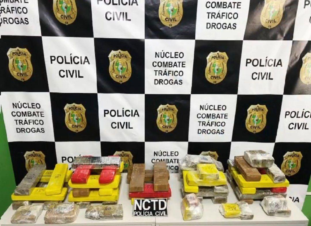 NCTD da Polícia Civil de Juazeiro do Norte apreende cerca de 30 kg de drogas em Brejo Santo/Ce e prende duas mulheres