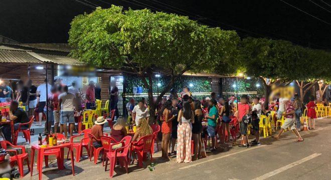 Bares são interditados e festas encerradas pela Vigilância Sanitária em Barbalha