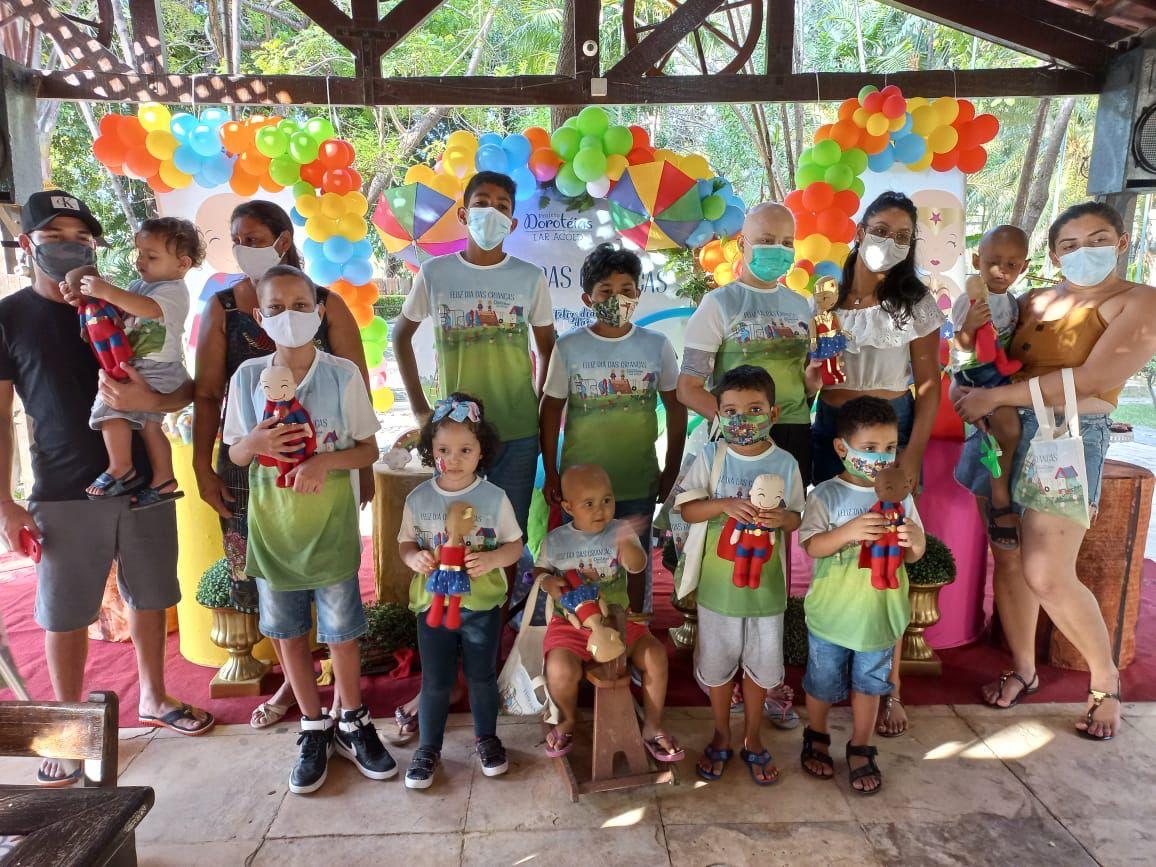 Crianças do cariri, que estão em tratamento contra câncer em Fortaleza, ganham festa pelo Dia das Crianças